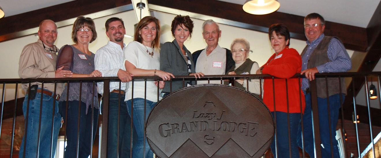 Martin Jorgensen family at the Lazy J Grand Lodge