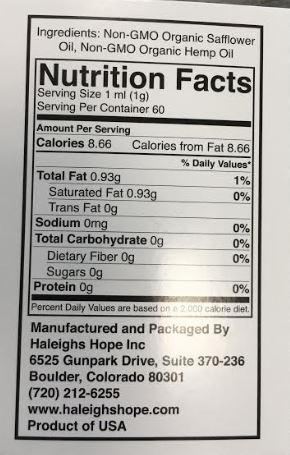 Haleigh's Hope Organic 10:1 w  Safflower-Capture Non-GMO O Safflower facts.JPG