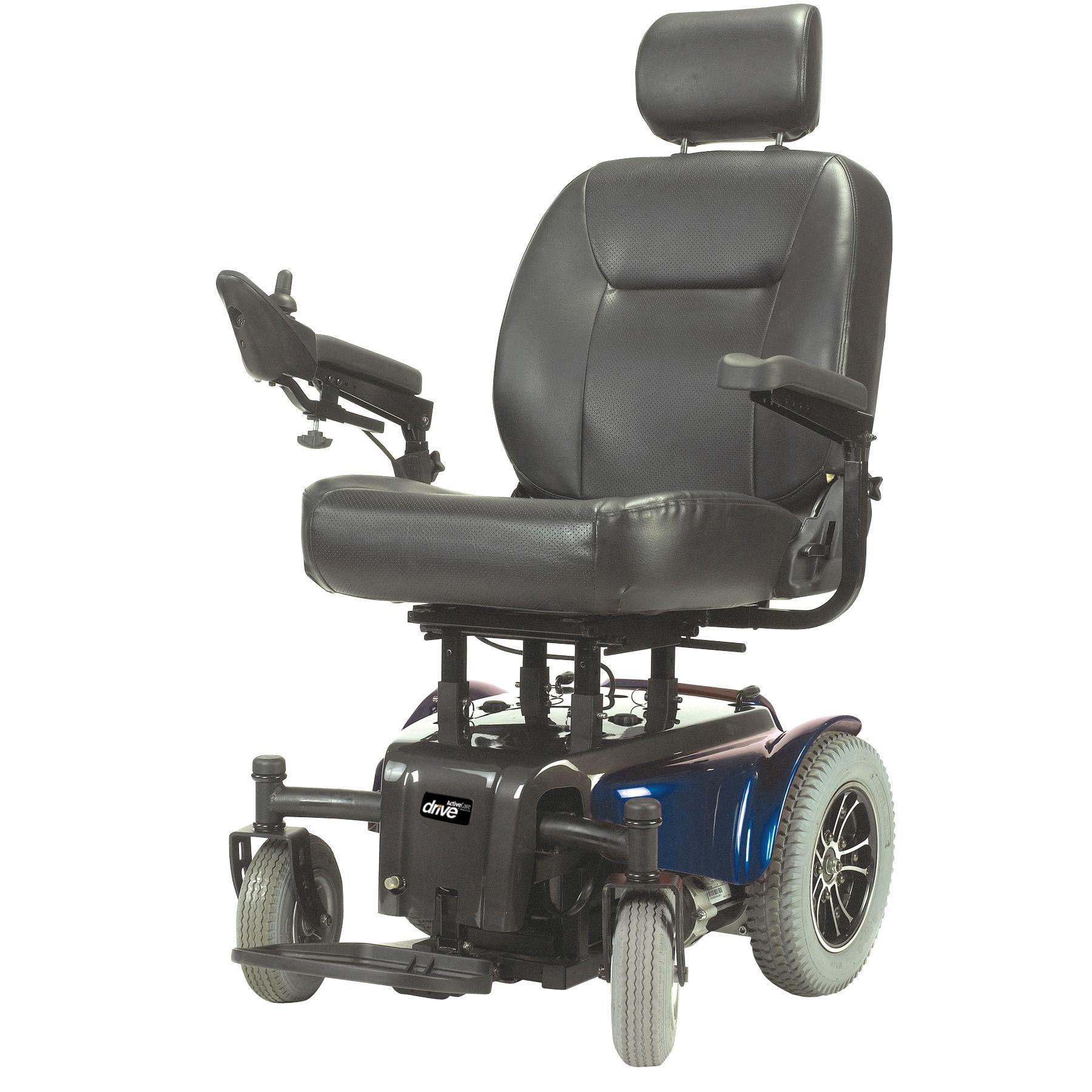 Medalist 450 Blue Heavy Duty Rear Wheel Drive Power Wheelchair - MEDALIST450BL22CS-powerchairmedalist450bl22cs.jpg