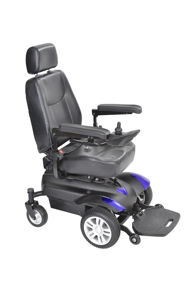 """Titan Front Wheel Power Wheelchair 20"""" Captain Seat - TITAN20CS-powerchairtitanlb18csblue.jpg"""