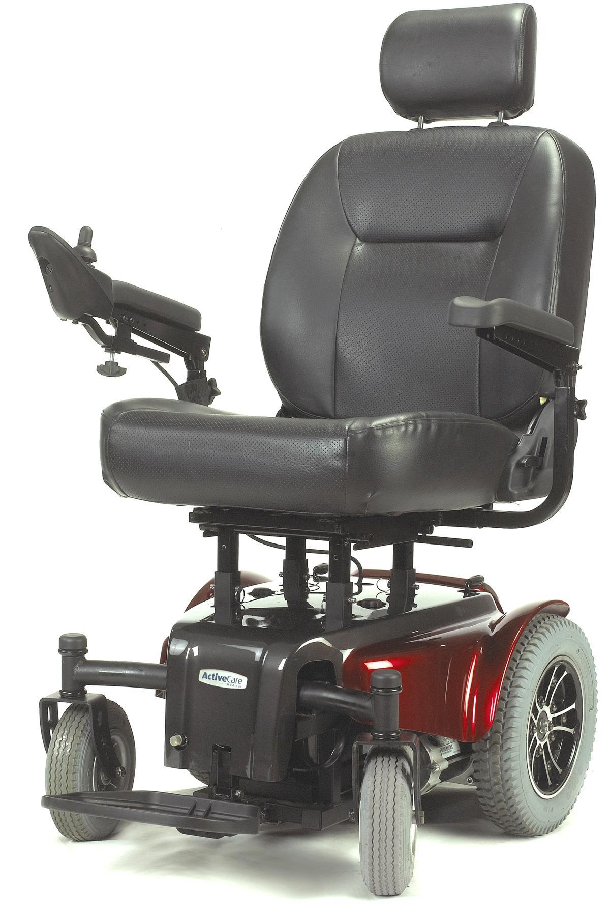 Medalist 450 Red Heavy Duty Rear Wheel Drive Power Wheelchair - MEDALIST450RD22CS-powerchairmedalist450rd22cs.jpg