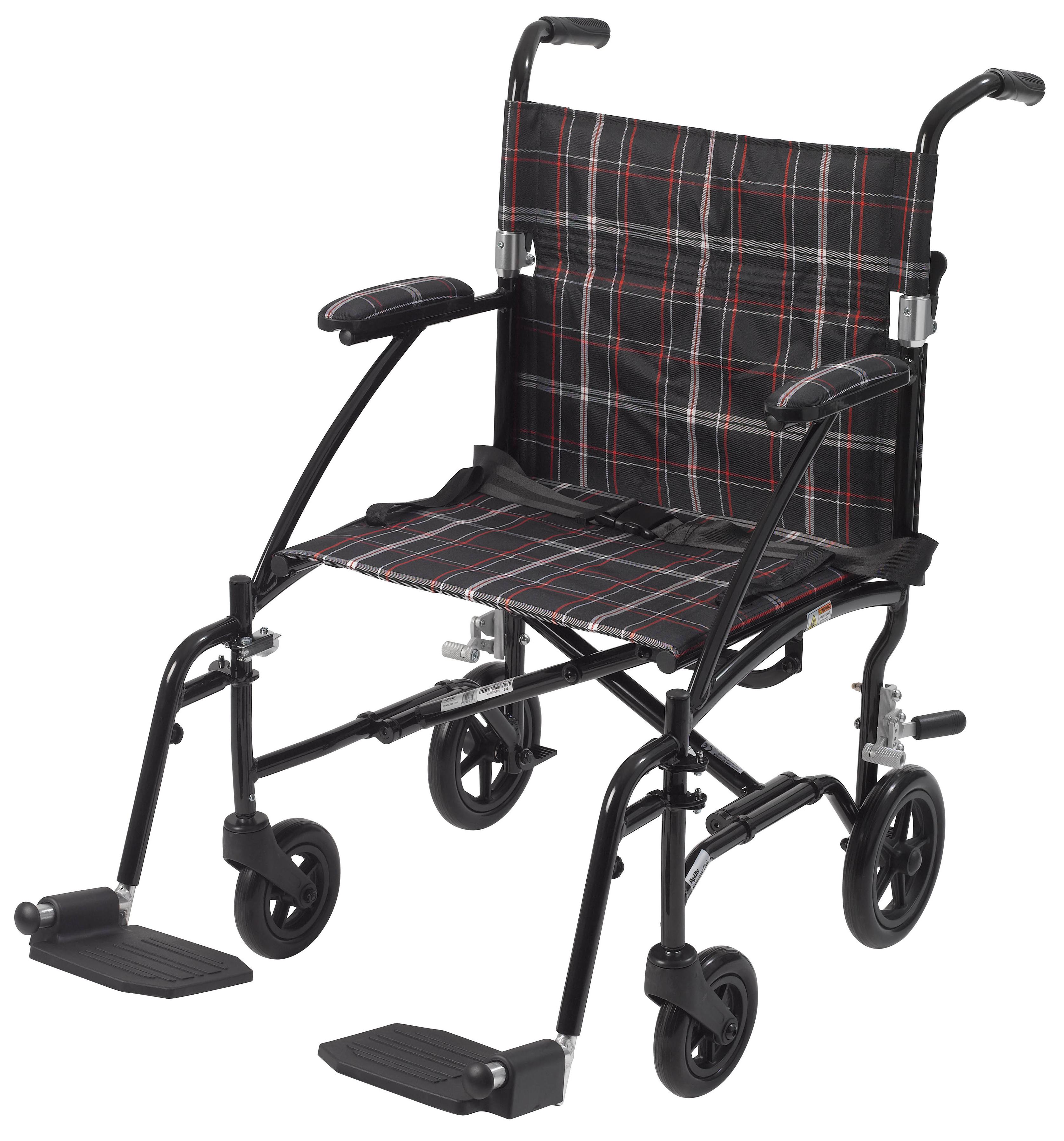 01 - Black Footrest Assembly for DFL19 Transport Chair DFLSFBK-transportchairdfl19-blknew.png