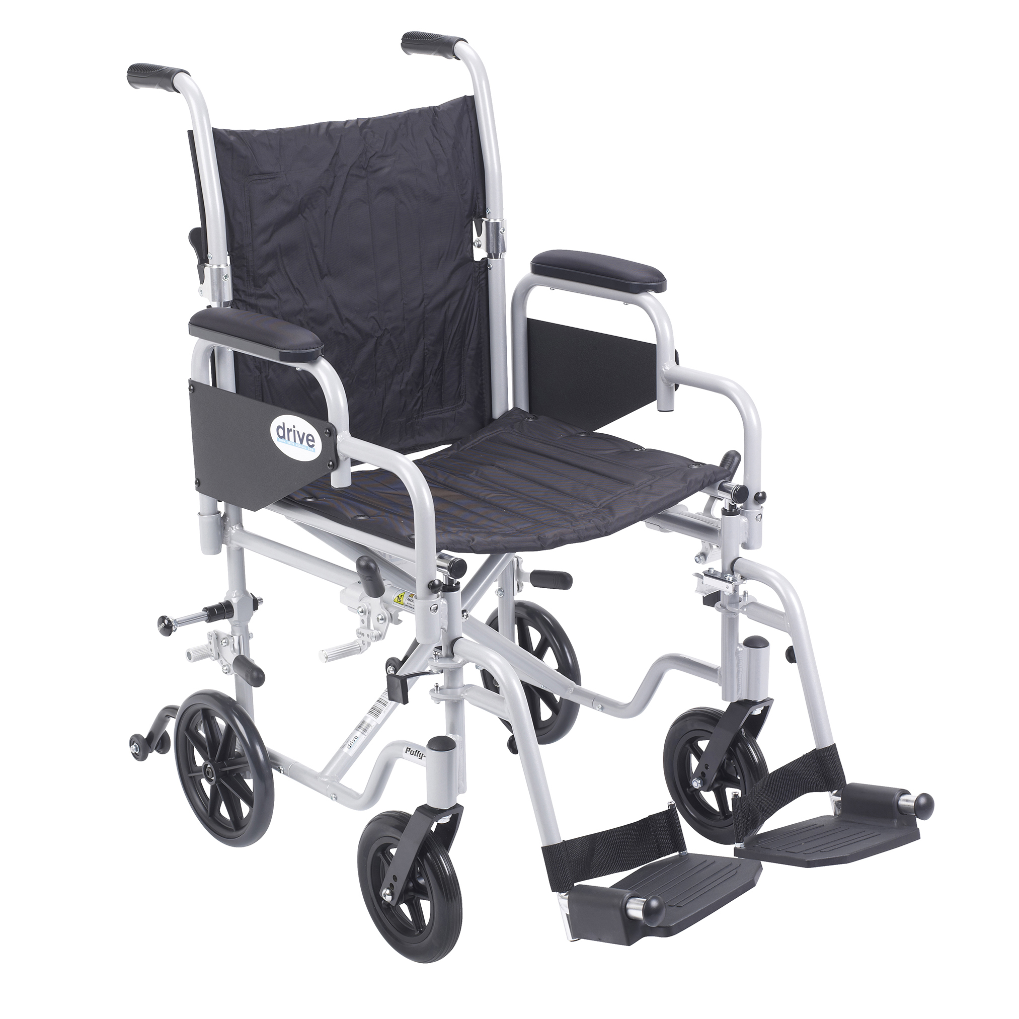 """01-TR18 Poly Fly 8"""" Rear Wheel Brakes (set Left and Right)-transportchairtr18.jpg"""