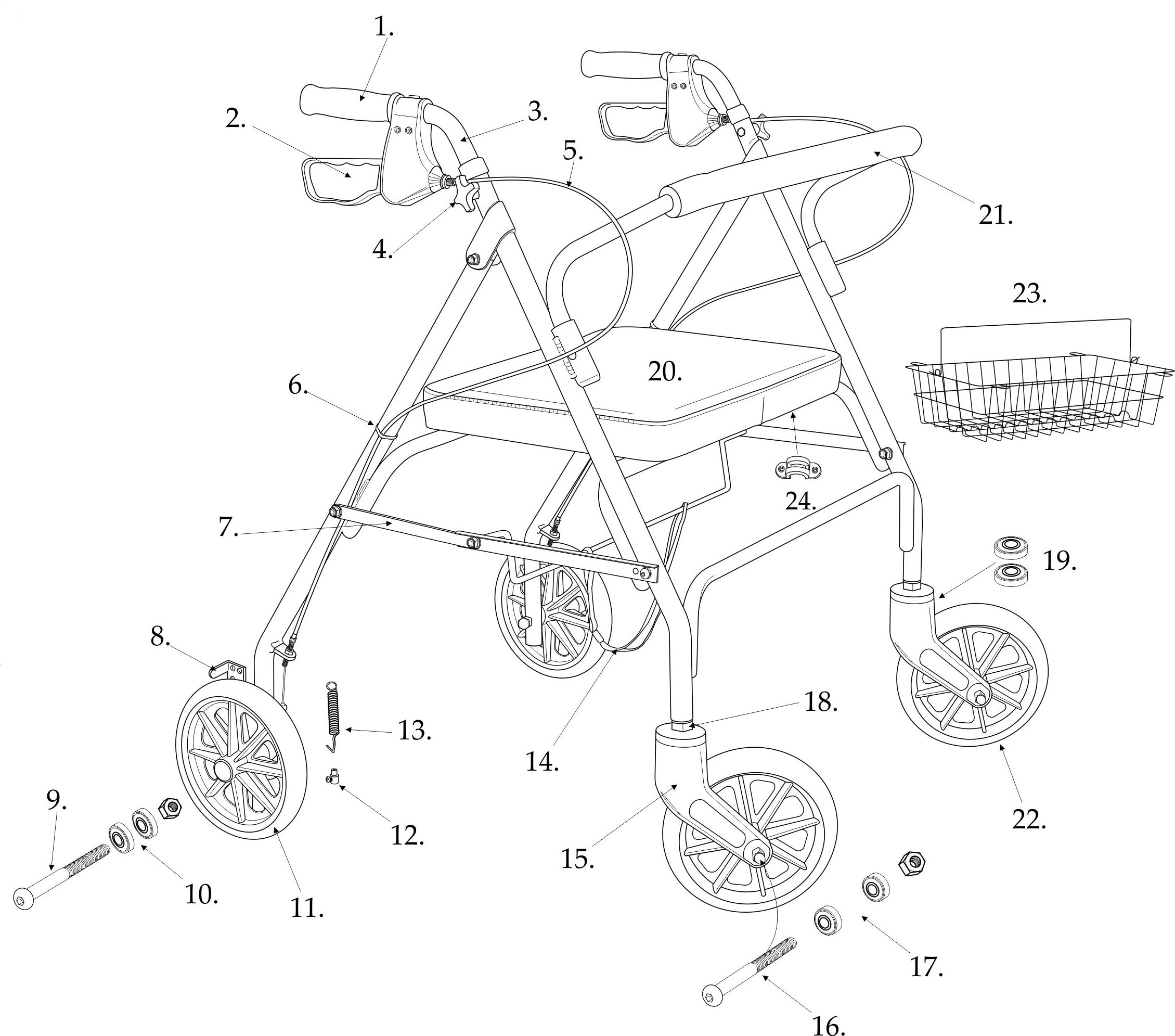 01 - Seat Assembly for Rollator 10215rd or 10215bl-parts10215-parts.jpg