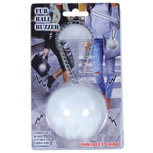 Personal Safety Fur Ball Buzzer Pink-FurBallWhite-Top Ranked Security.jpg