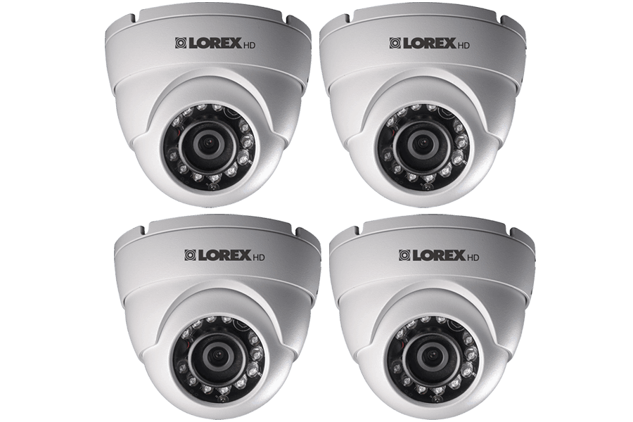 Lorex HD 1080p Weatherproof IR Dome Security Camera (4-Pack)-LOREXIR1-TOP RANKED SECURITY.png