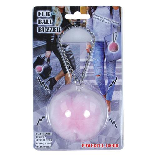 Personal Safety Fur Ball Buzzer Pink-FurBallPink-Top Ranked Security.jpg
