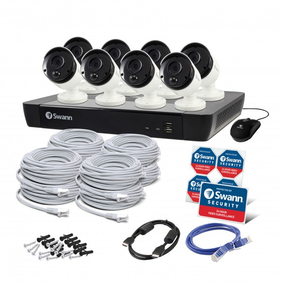 Swann 16 Channel Security System: 5MP Super HD NVR-8580 with 2TB HDD & 8 x 5MP Thermal Sensing Bullet Cameras NHD-865MSB-SWANN8084-TOP RANKED SECURITY.jpg