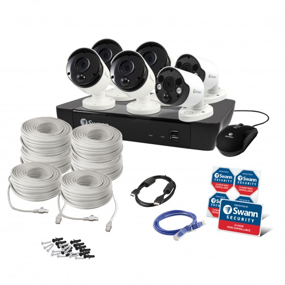Swann 8 Channel Security System: 5MP Super HD NVR-8580 with 2TB HDD, 4 x 5MP Bullet Cameras & 2 x 5MP Spotlight Cameras-SWANN FB5-TOP RANKED SECURITY.jpg