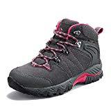 Clorts Women's Hiking Boots Waterproof Suede Leather Lightweight Hiking Shoes Outdoor Backpacking Trekking Trail