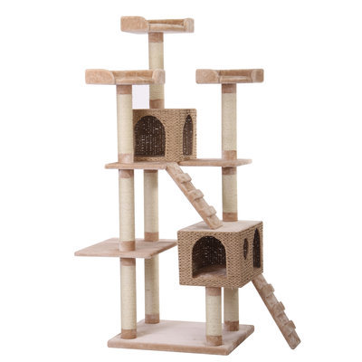 "Luxurious Cat House, 28"" x 24"" x 73""-5a.jpg"