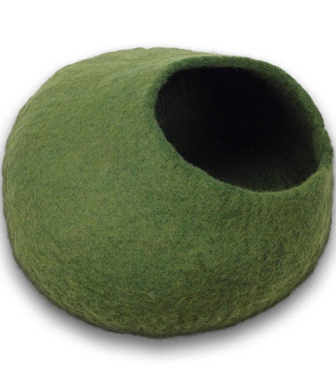 """Cat Cave, 18"""" x 10"""" w/ 8"""" Hole-9f Green.jpg"""