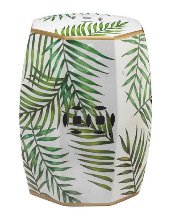 Island Palms Decorative Stool-e1 Island Palms Decorative Stool.PNG