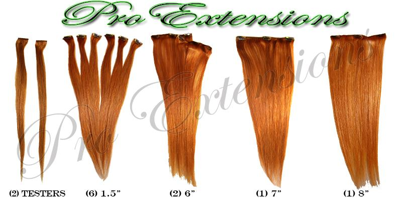 14  Inch Clip In Human Hair, Auburn-4b Auburn - 14 inch.jpg