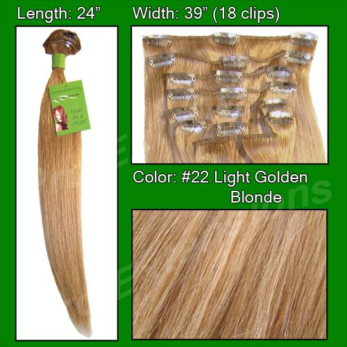 24 Inch Pro Premier Remy Hair, Golden Blonde-7a Golden Blonde - 24 inch Remy.jpg