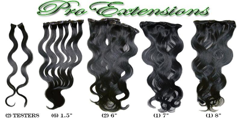 14 Inch Clip In Human Hair, Off Black-SKU PRBD-20-1B   PRO-5002W  #1B  OFF BLACK.jpg
