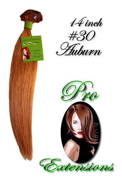 14  Inch Clip In Human Hair, Auburn-4c Auburn - 14 inch.jpg