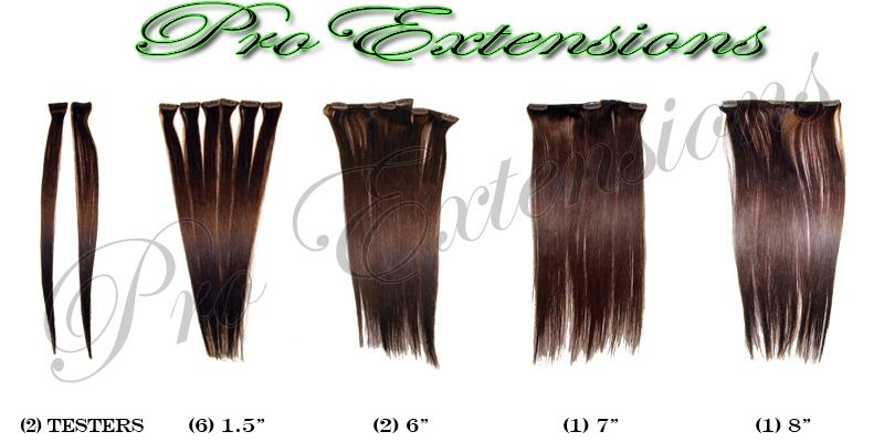 14 Inch Clip In Human Hair, Dark Brown-SKU PRST-14-2   PRO-3005   #2  DARK BROWN.jpg
