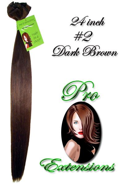 24 Inch Pro Premier Remy Hair, Dark Brown-8d Dark Brown - 24 inch Remy.jpg