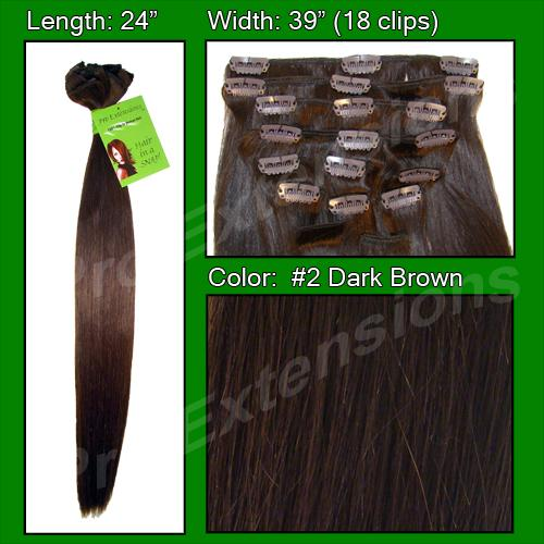 24 Inch Pro Premier Remy Hair, Dark Brown-SKU PRRM-24-2  PRO-6003 # 2 DARK BROWN.jpg
