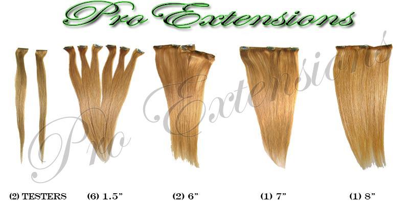14 Inch Clip In Human Hair, Medium Golden Brown-SKU PRST-14-22  PRO-3006   #22 MEDIUM GOLDEN BLONDE (2).jpg