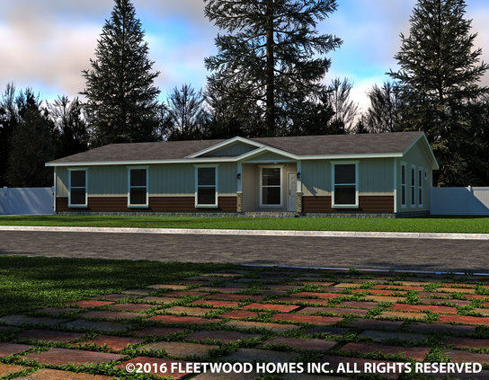 Image of the Fleetwood Homes 40644B Manufactured Home in the Barrington Series