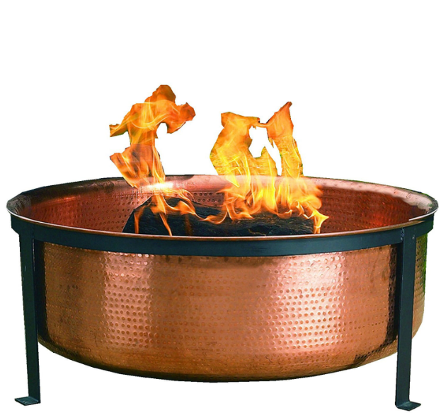 Solid 100-Percent Copper Fire Pit with Stand Screen and Cover-Solid 100-Percent Copper Fire Pit with Stand Screen and Cover2.PNG