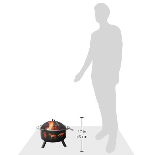 Large Black Steel Outdoor Fire Pit with Bear Deer Animals-Large Black Steel Outdoor Fire Pit with Bear Deer Animals3.PNG