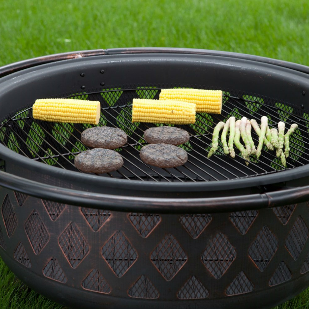 36-inch Bronze Fire Pit with Grill Grate Spark Screen Cover and Poker-36-inch Bronze Fire Pit with Grill Grate Spark Screen Cover and Poker5.PNG