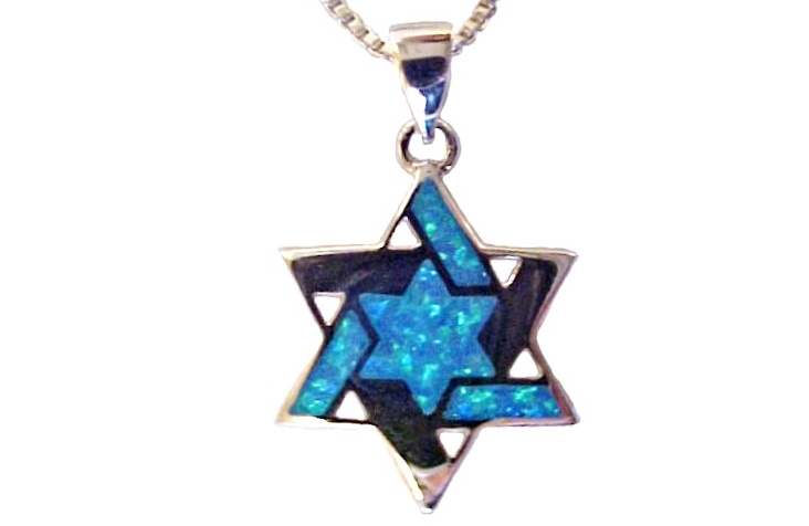 Large Silver Star of David with Opals-23a Large Silver Star of David with Opals.PNG