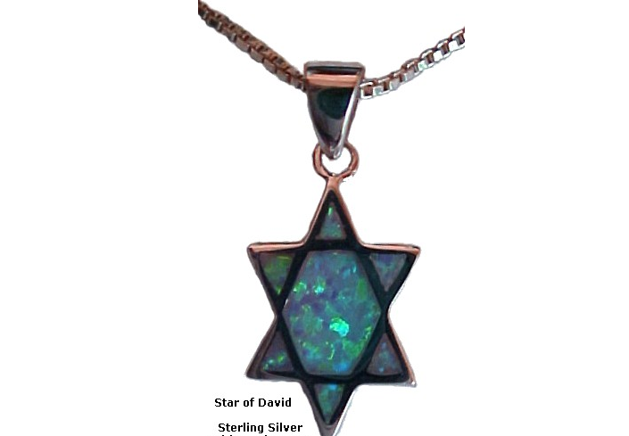 Silver Star of David with Opals-22a Silver Star of David with Opals.PNG