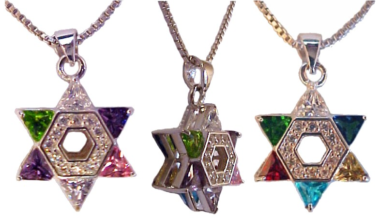 Star of David with CZ Multi Color Stones-25a Star of David with CZ Multi Color Stones.PNG