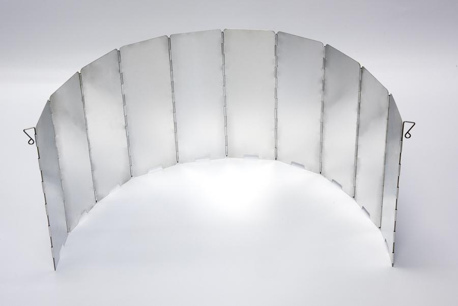 """10 Section Removeable Folding Wind Shield & Heat Reflector, Height 9.5"""", Extended : 32.7""""-Reflector.jpg"""