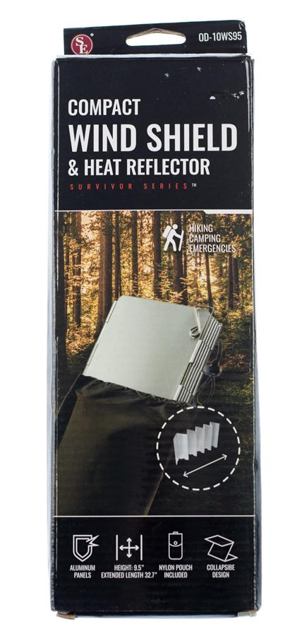 "10 Section Removeable Folding Wind Shield & Heat Reflector, Height 9.5"", Extended : 32.7""-Reflector3.jpg"