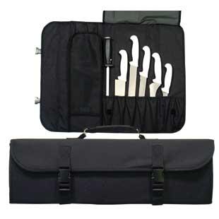 Black Nylon 10 Pocket Cutlery Pouch-BLACK NYLON 10 POCKET CUTLERY POUCH.jpg