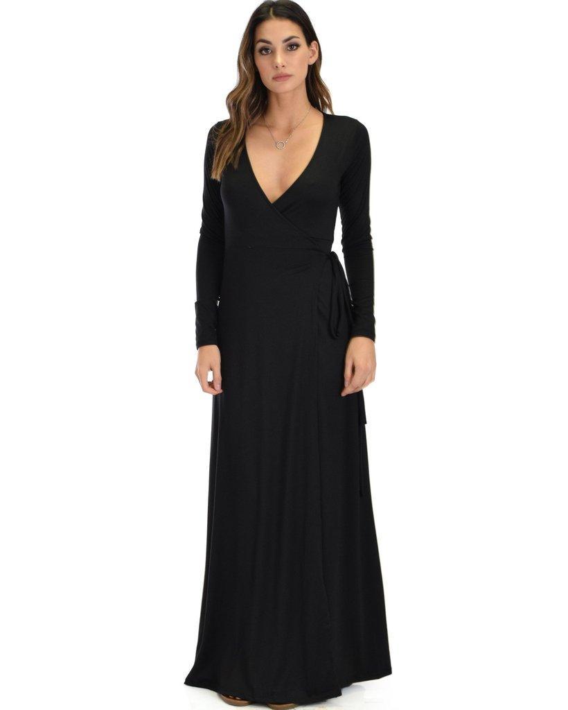 395144366 Celestial Long Sleeve Wrap Maxi Dress-D2081-Black-4x5-1_0ec704c4-8fc3