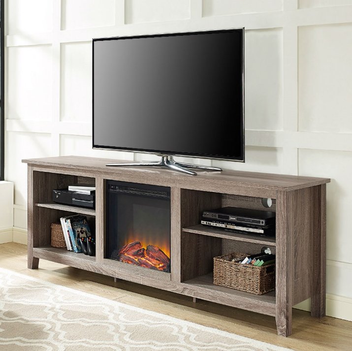 Driftwood 70-inch TV Stand Space Heater Electric Fireplace-t1 Driftwood 70-inch TV Stand Space Heater Electric Fireplace.PNG