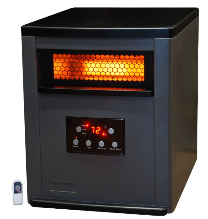 Infrared Space Heater w/ Remote 5,200 BTUs Heat Two Tone Fireproof Cabinet-p1 Infrared Space Heater w Remote 5,200 BTUs Heat Two Tone Fireproof Cabinet.PNG