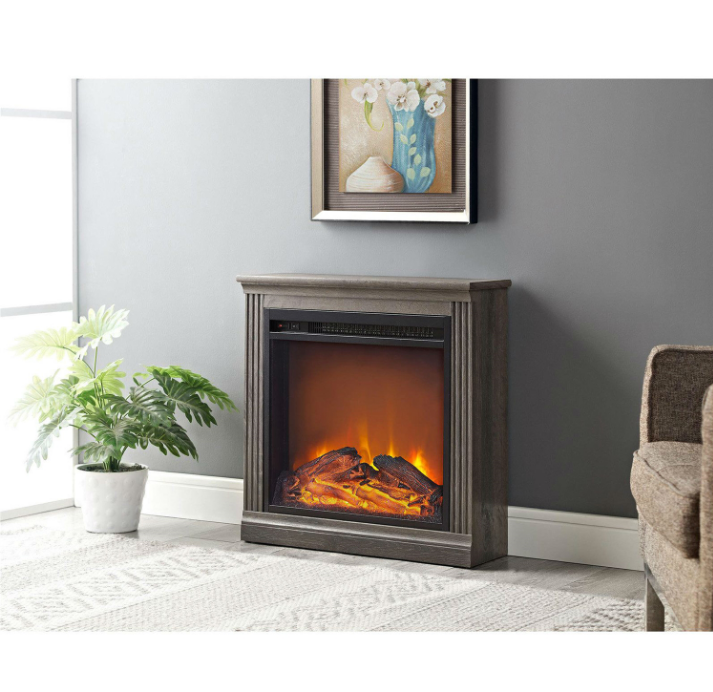 Ventless Electric Fireplace in Espresso Wood Finish-f2 Ventless Electric Fireplace in Espresso Wood Finish.PNG