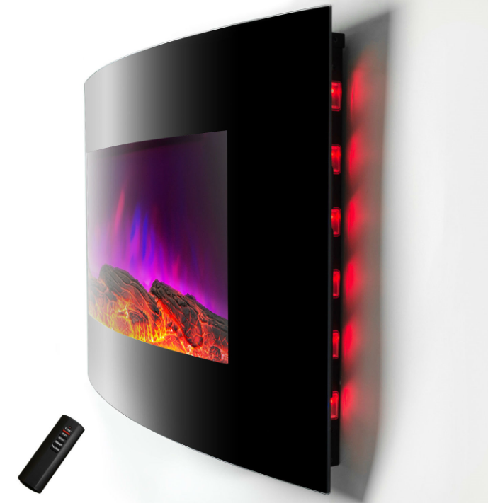 Wall Mounted Electric Fireplace Space Heater with Remote 5,200 BTU-x2 Wall Mounted Electric Fireplace Space Heater with Remote 5,200 BTU.PNG
