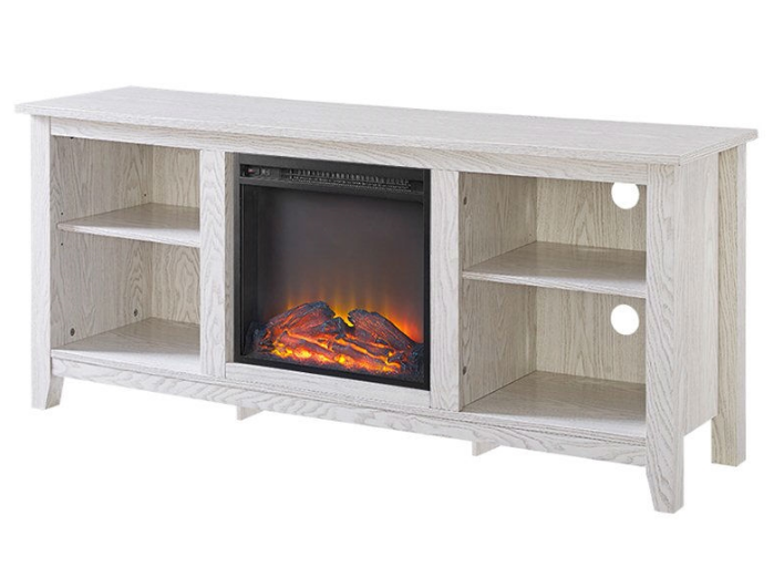 Whitewash 58-inch TV Stand Electric Fireplace Space Heater-i1 Whitewash 58-inch TV Stand Electric Fireplace Space Heater.PNG