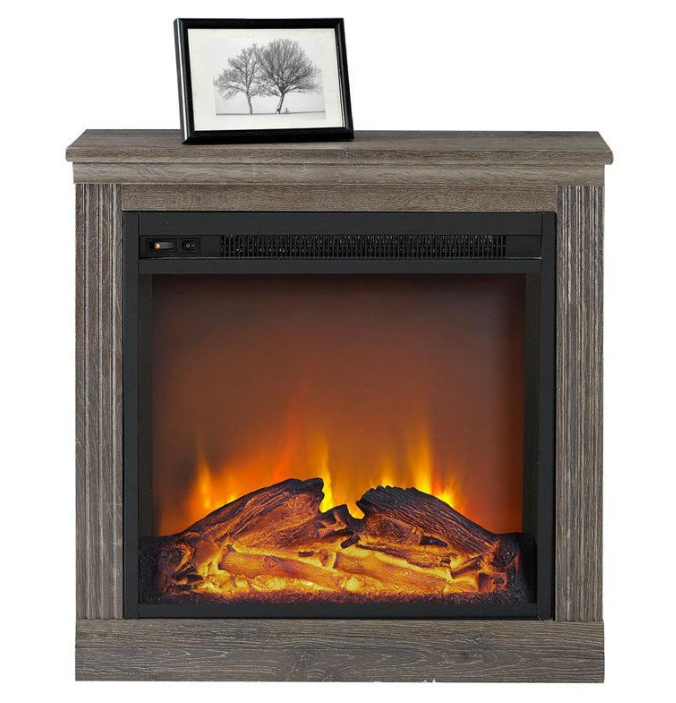 Ventless Electric Fireplace in Espresso Wood Finish-f1 Ventless Electric Fireplace in Espresso Wood Finish.PNG