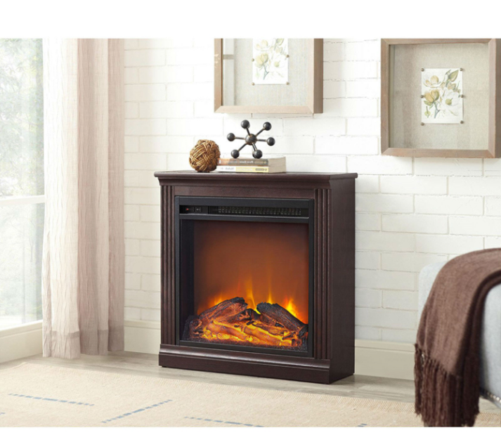 Freestanding Ventless Electric Fireplace in Cherry Finish-e2 Freestanding Ventless Electric Fireplace in Cherry Finish.PNG