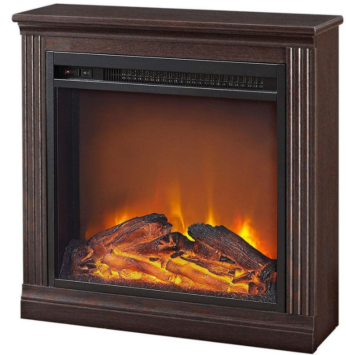Freestanding Ventless Electric Fireplace in Cherry Finish-e3 Freestanding Ventless Electric Fireplace in Cherry Finish.PNG