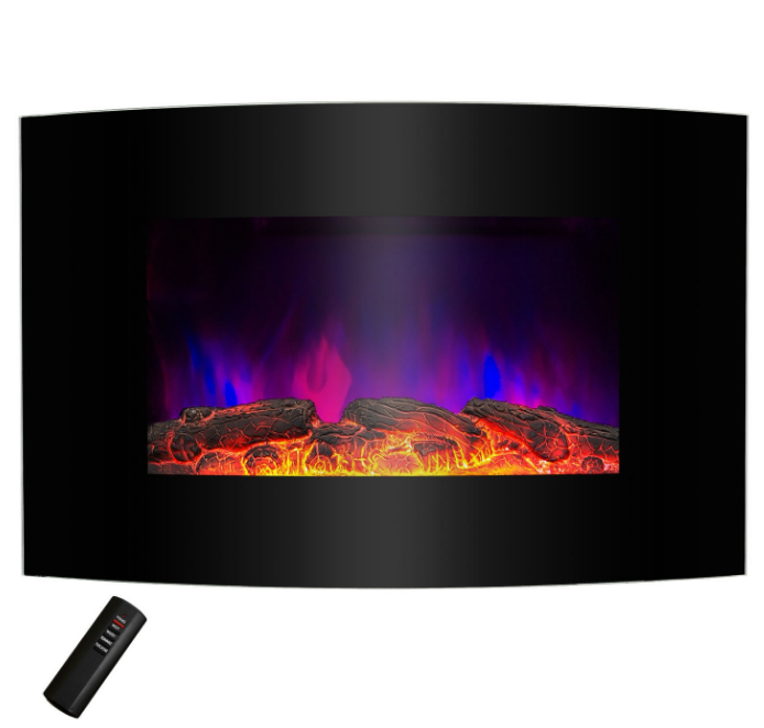 Wall Mounted Electric Fireplace Space Heater with Remote 5,200 BTU-x1 Wall Mounted Electric Fireplace Space Heater with Remote 5,200 BTU.PNG