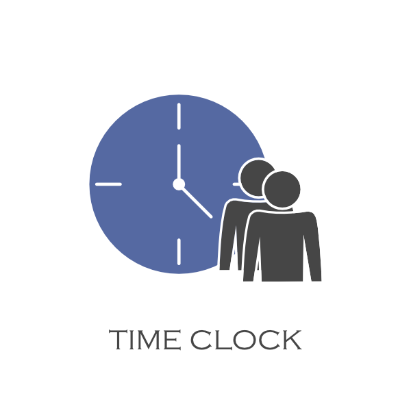 Image of the Time Clock feature for the Panel and Mobile App