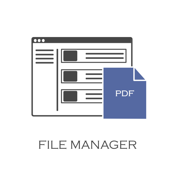Image of the File Manager feature for the Panel and Architect