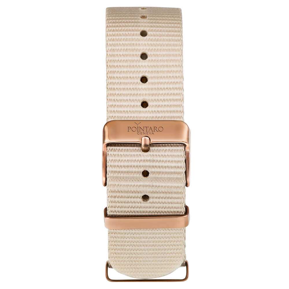 Cream Nato Strap - Rose Gold Buckle - Nato Straps - Nato Watch Bands - Interchangeable Watch Strap