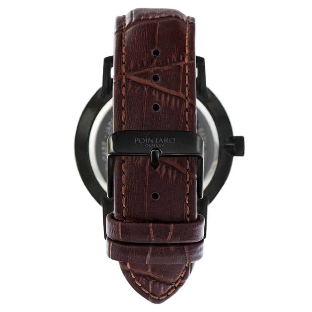 Brown Crocodile Watch Strap - Black Buckle - Watch Strap - Interchangeable Watch Strap - Leather Strap