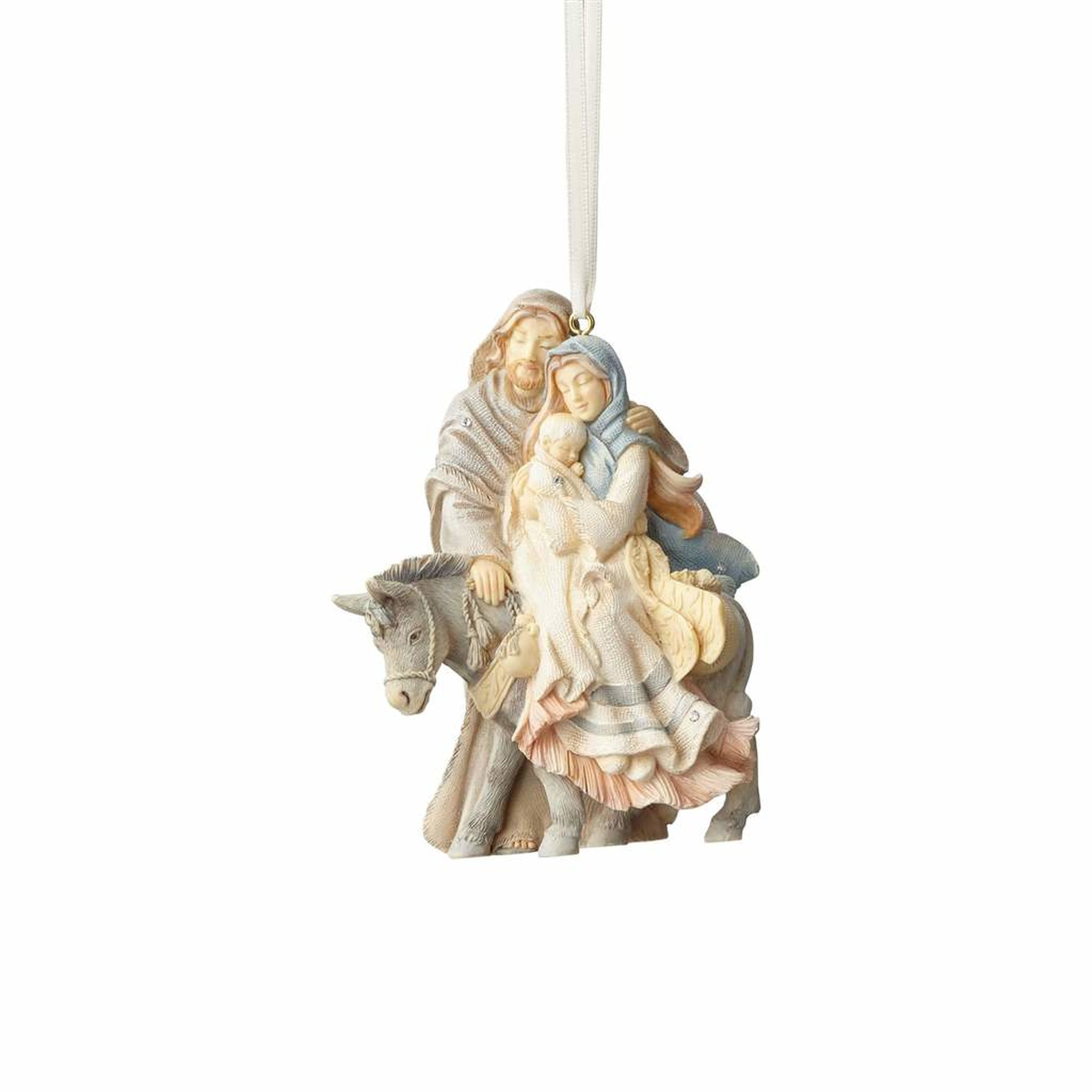 Foundations Holy Family with Donkey Ornament - ENC-4058698